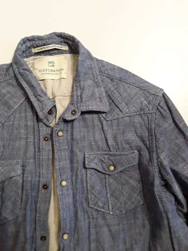 Фирменная рубашка l - Фото 5