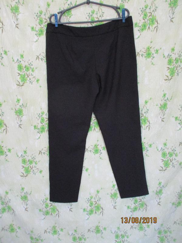 Черные зауженные брюки - Фото 2