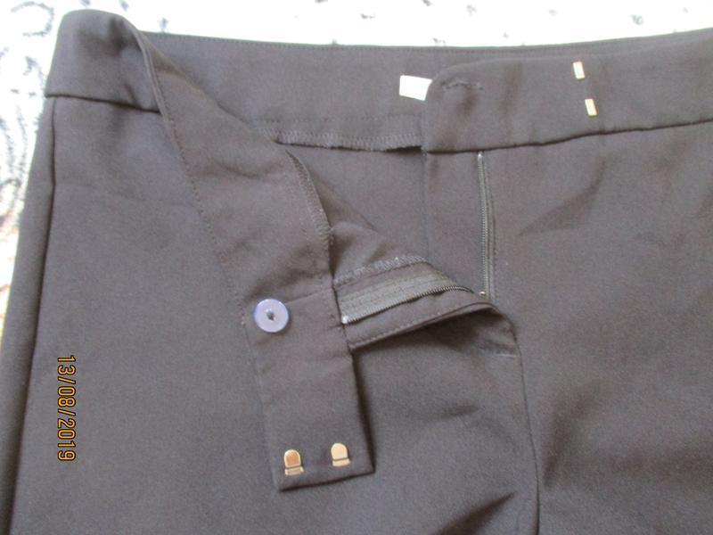 Черные зауженные брюки - Фото 4