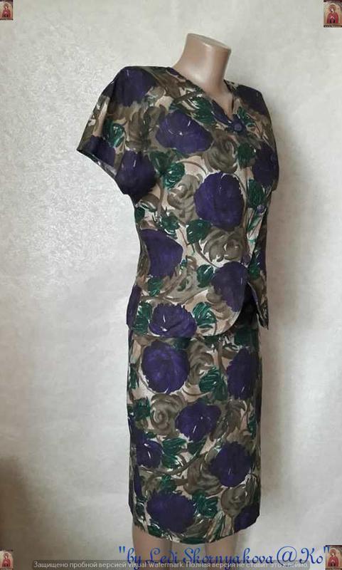 Новый красивый костюм в яркий цветочный принт со 100 % хлопка,... - Фото 3