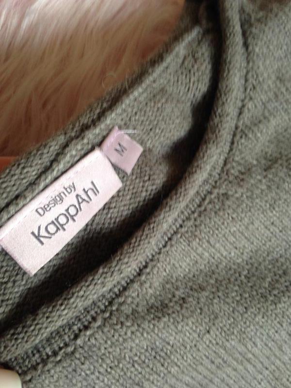 Свободный шерстяной шерсть джемпер свитер цвета какао - Фото 3