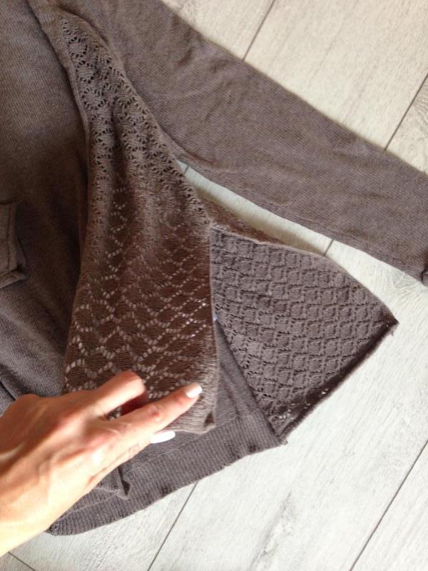 Свободный шерстяной шерсть джемпер свитер цвета какао - Фото 4