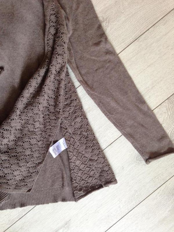 Свободный шерстяной шерсть джемпер свитер цвета какао - Фото 5