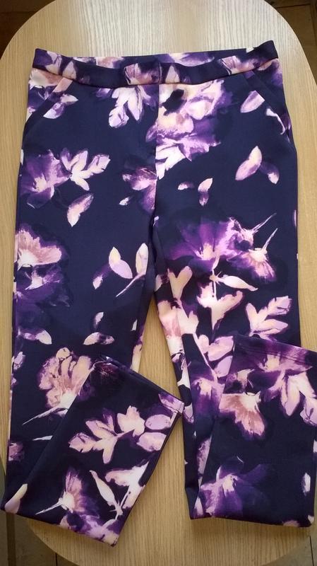 Стильные брюки скинни р.м с принтом george, микродайвинг - Фото 3