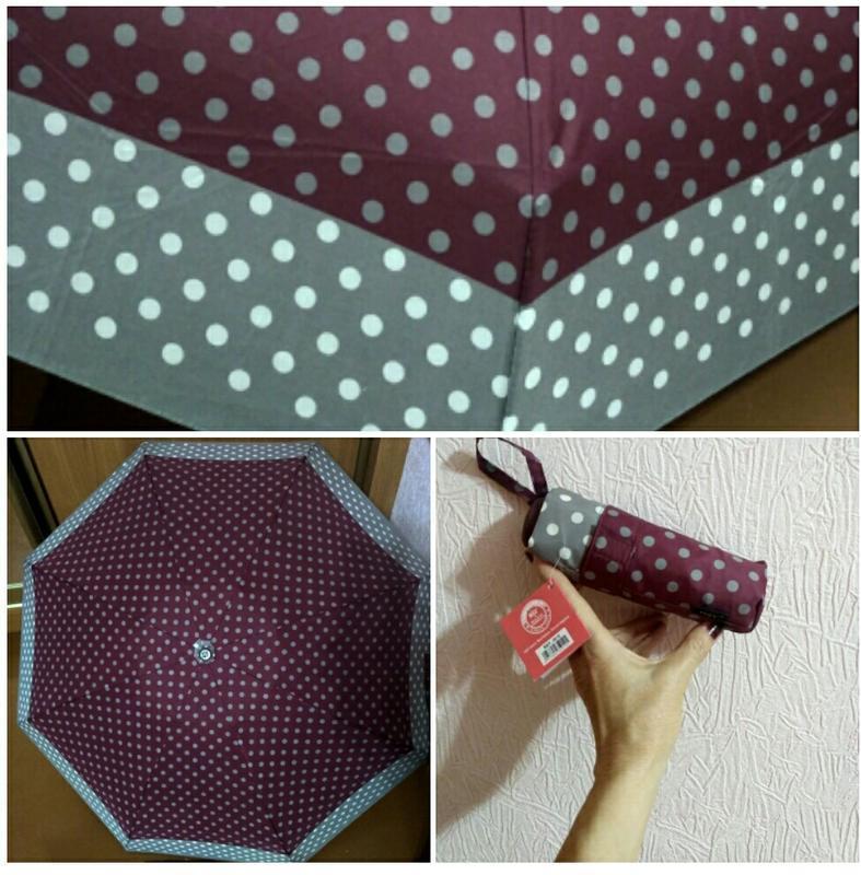 Компактный зонт механика, горох.