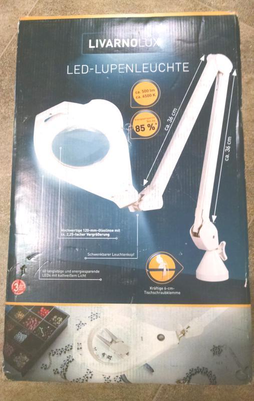 Продам Светодиодная лампа-лупа Livarno Lux, новая из Германии - Фото 2