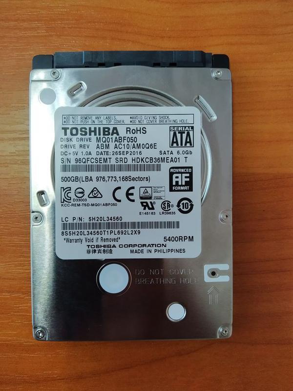 Жесткий диск для ноутбука Toshiba 2.5