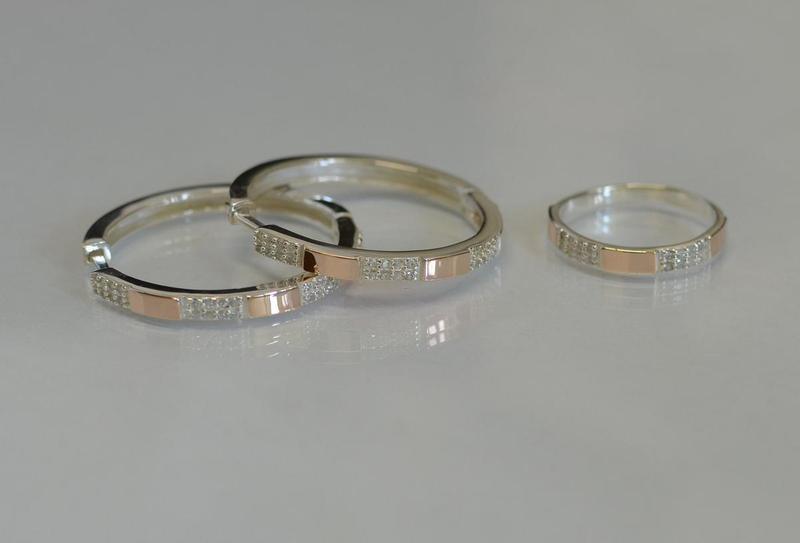 Серьги серебро 925 с золотом конго 041с - Фото 3