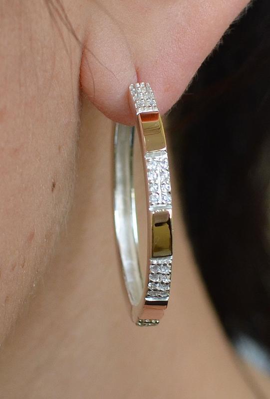 Серьги серебро 925 с золотом конго 041с - Фото 6