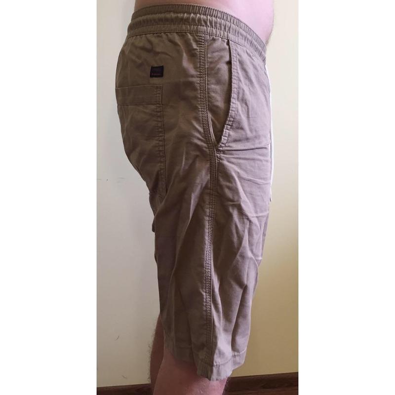 Чоловічі бежеві коричневі шорти. мужские шорты. - Фото 2