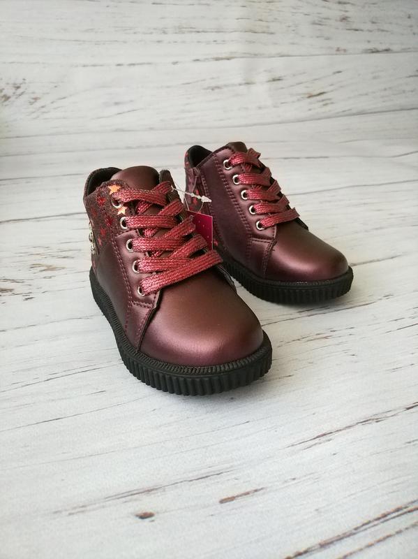 Невесомые демисезонные ботинки для девочек солнце - Фото 3