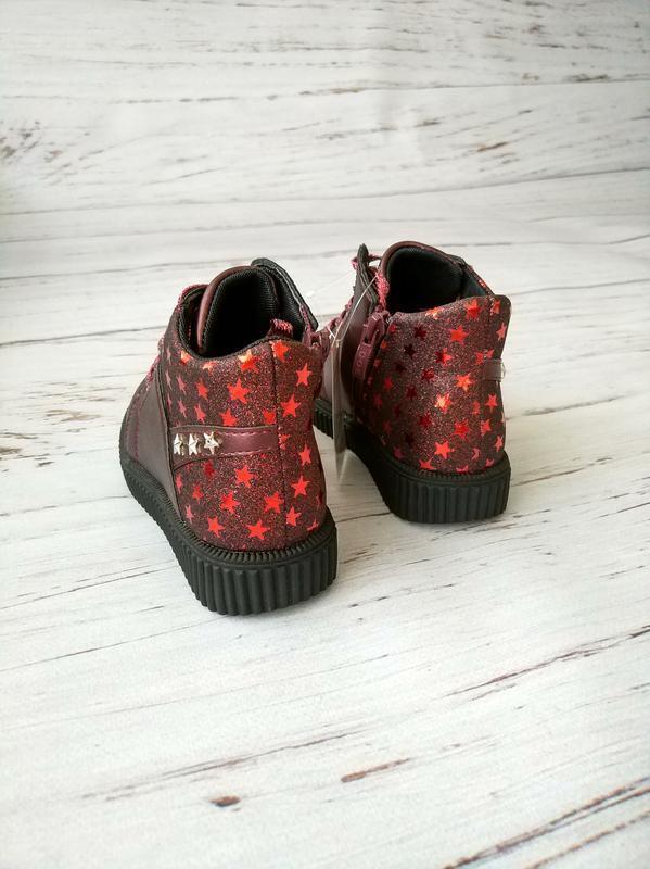 Невесомые демисезонные ботинки для девочек солнце - Фото 4
