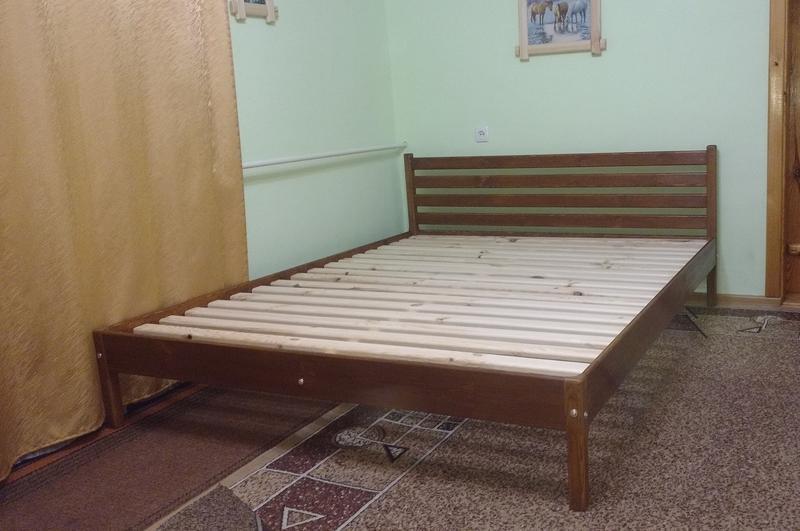 Ліжко дерев'яне, без викрутасів, одне бильце, 1.0 - Фото 3
