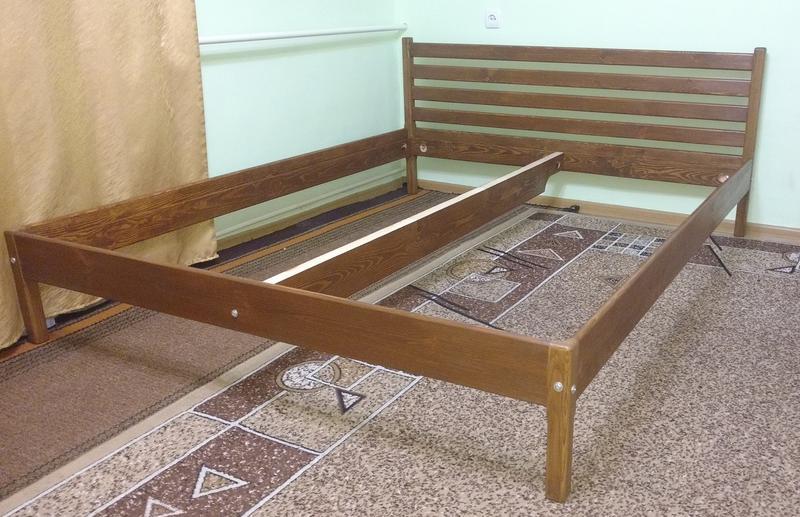 Ліжко дерев'яне, без викрутасів, одне бильце, 1.0 - Фото 4