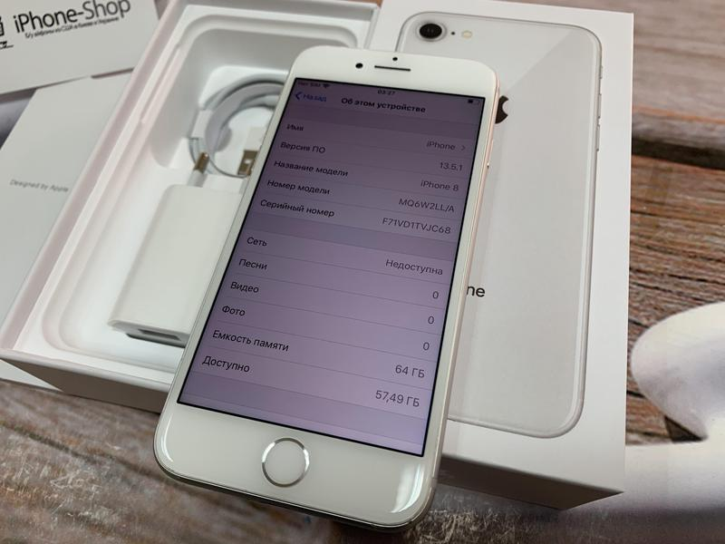 Apple iPhone 8 64gb Silver Neverlock с комплектом,гарантия. - Фото 4