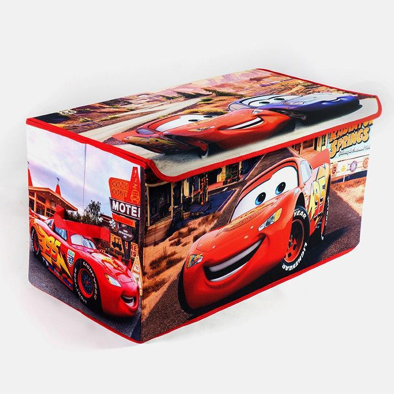 Коробка ящик для хранения игрушек и детских вещей Тачки