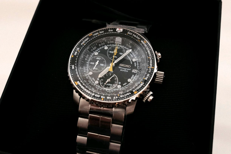 Наручные часы мужские Seiko Chronograph Хронограф Flighty SNA411 - Фото 5