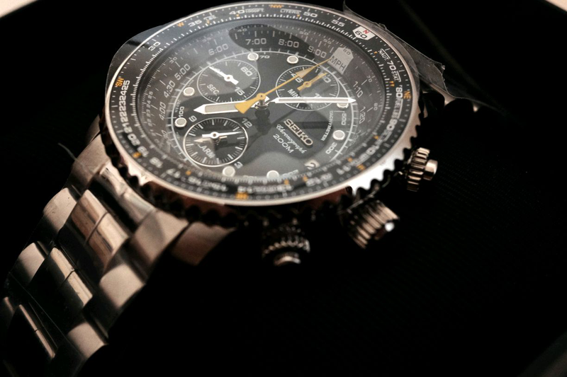 Наручные часы мужские Seiko Chronograph Хронограф Flighty SNA411 - Фото 4