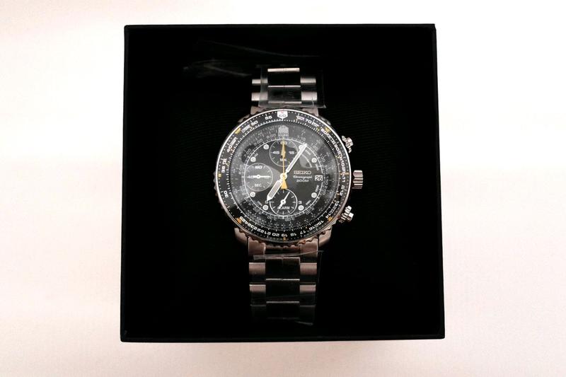 Наручные часы мужские Seiko Chronograph Хронограф Flighty SNA411