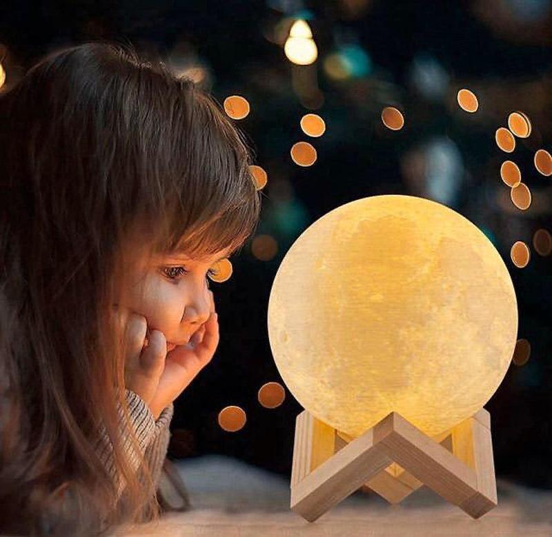 ХИТ! Ночник Луна Magic 3D Moon Light светильник лампа - Фото 10