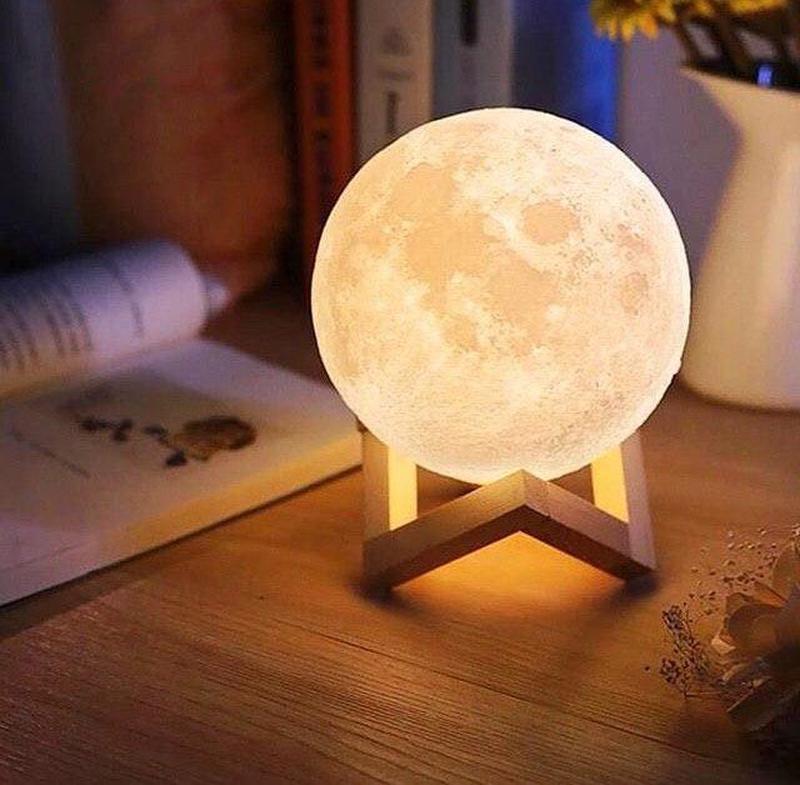 ХИТ! Ночник Луна Magic 3D Moon Light светильник лампа - Фото 9