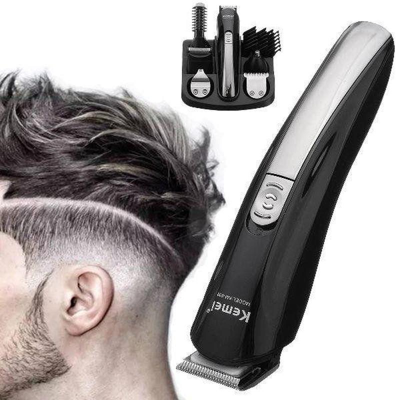 Машинка триммер для стрижки волос KEMEI KM-600 11 В 1 - Фото 2