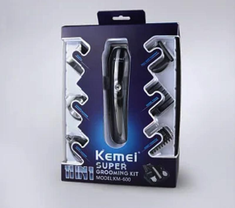 Машинка триммер для стрижки волос KEMEI KM-600 11 В 1 - Фото 4