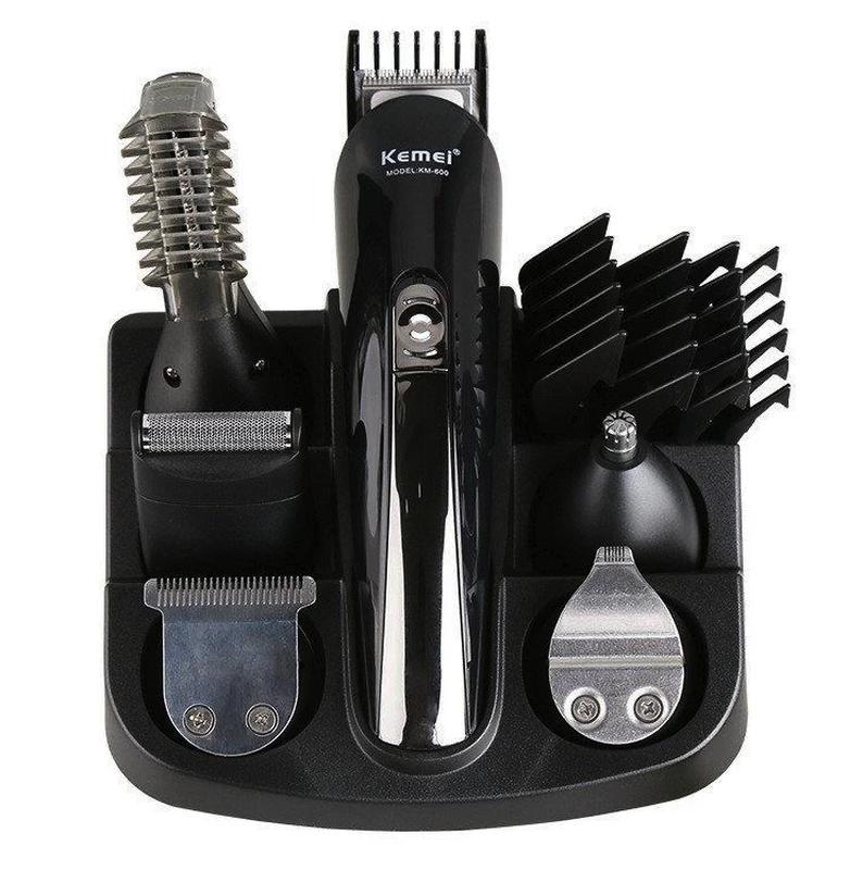 Машинка триммер для стрижки волос KEMEI KM-600 11 В 1 - Фото 8
