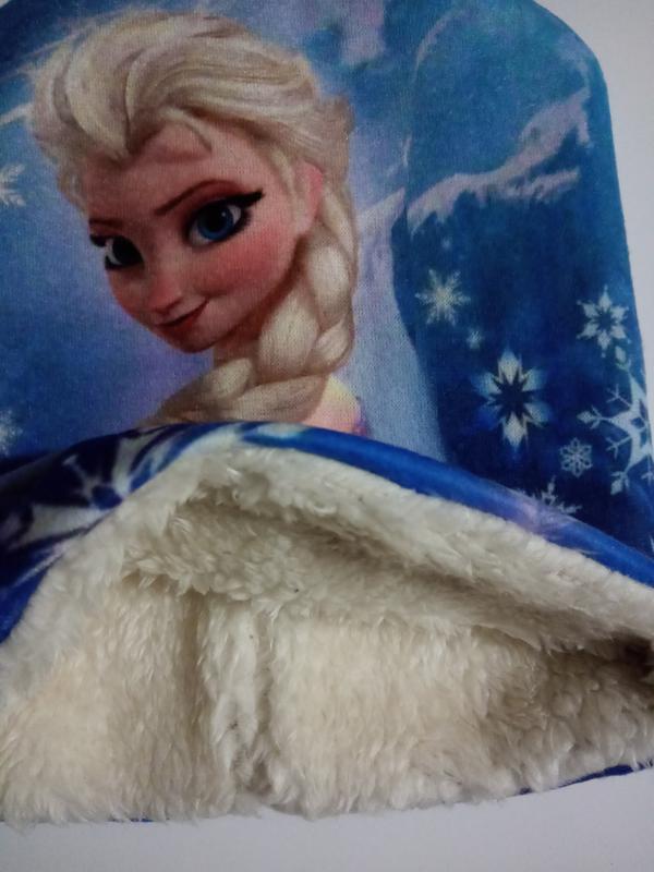 """Шапочка зимняя детская на меху """"Ельза"""" - Фото 2"""