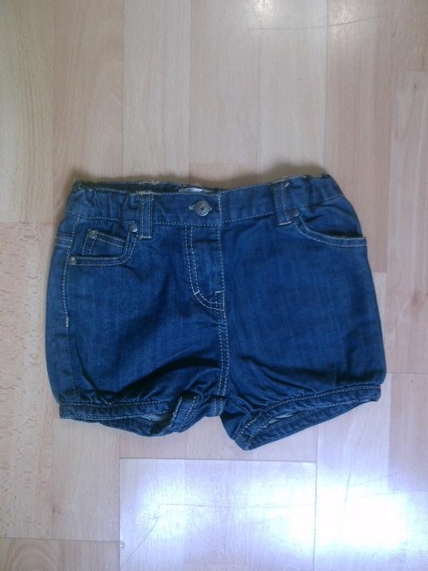Фирменные джинсовые шорты 2-3 года