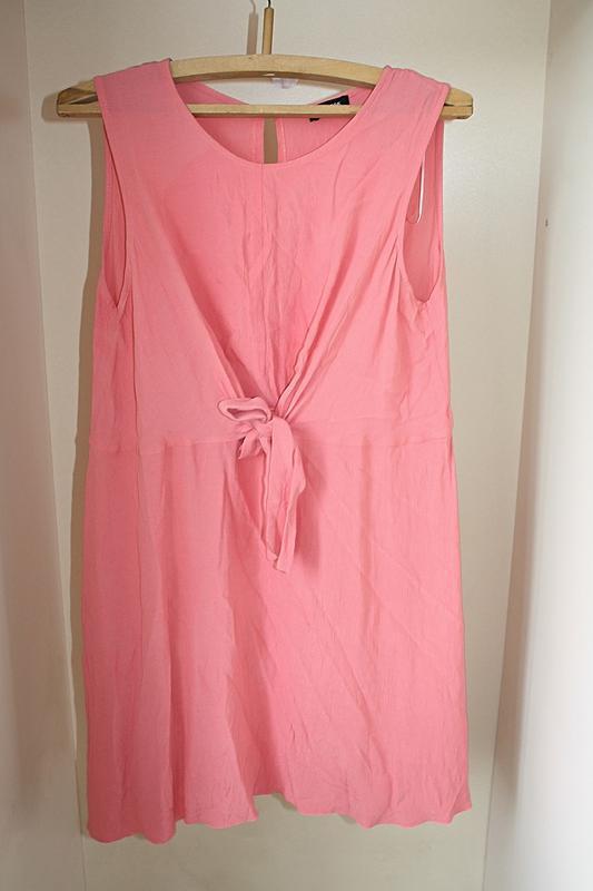 Коралловое платье с завязкой летнее батал большой размер new l... - Фото 5
