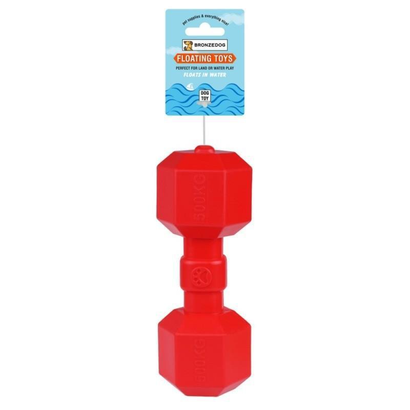 Игрушка для собак Bronzedog FLOAT плавающая Гантеля 9 х 20 см - Фото 3