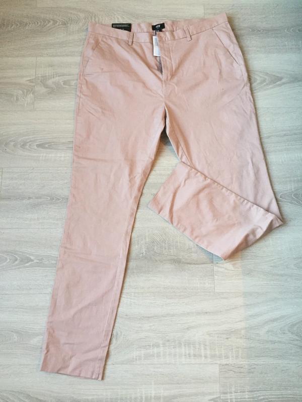 Джинсы пудрового цвета, брюки/ размер xl-xxl/h&m