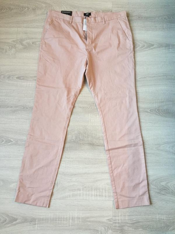 Джинсы пудрового цвета, брюки/ размер xl-xxl/h&m - Фото 5