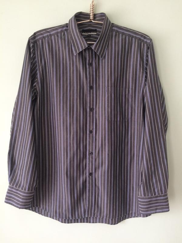 Рубашка мужская в полоску/100% котон