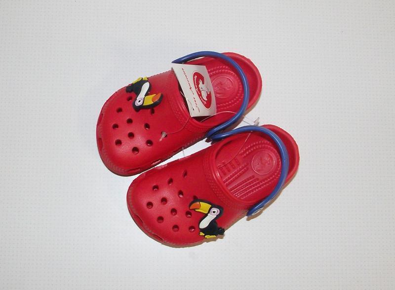 Кроксы сабо детские красные тм jose amorales - Фото 4