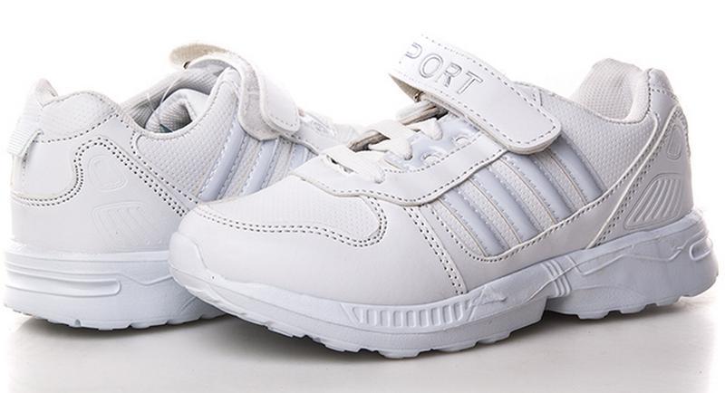 Белые кроссовки модные детские bbt
