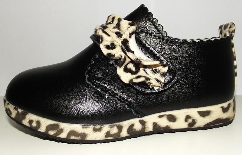 Демисезонные туфли ботиночки с тигровыми вставками