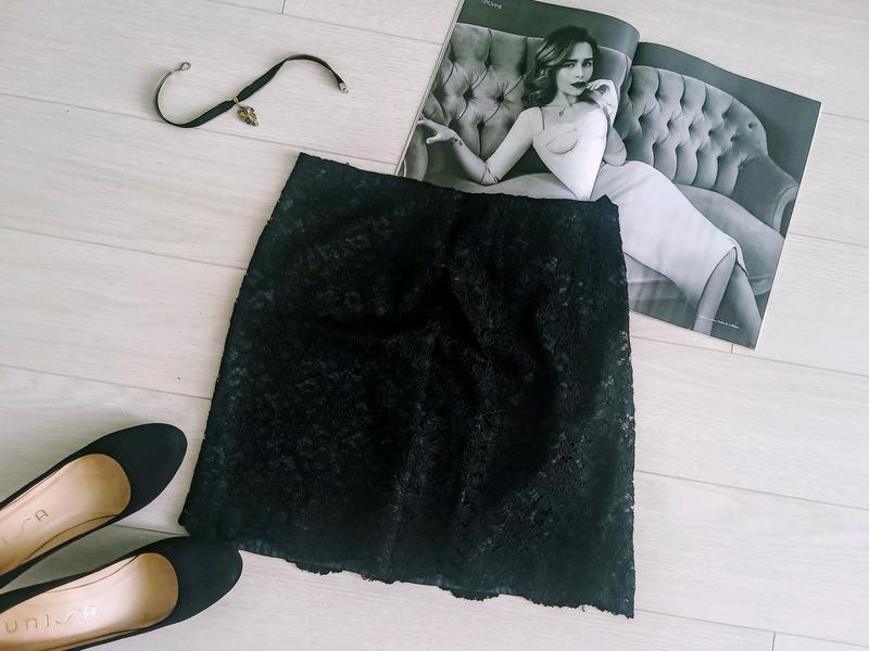 Черная гипюровая юбка, летняя юбка на девушку в офис