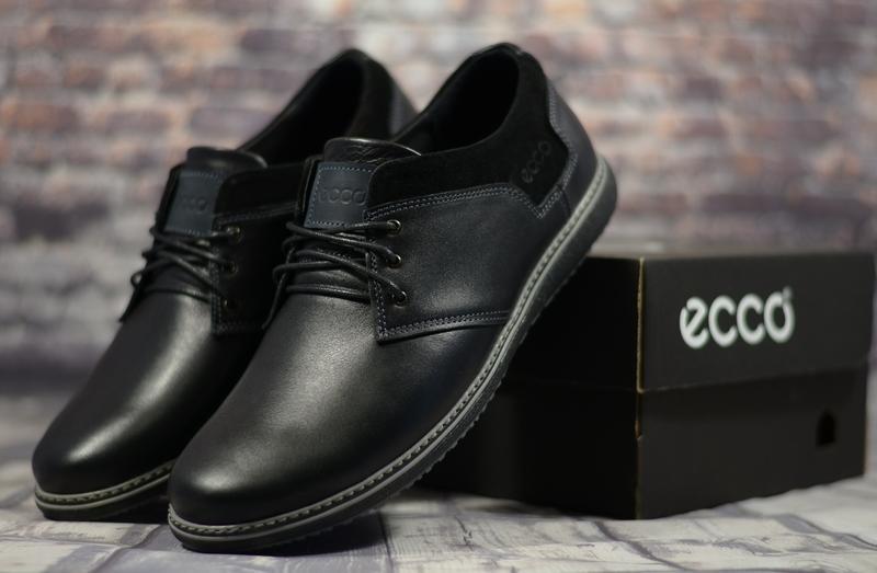 Натуральная кожа классические мужские туфли на шнурках качеств...
