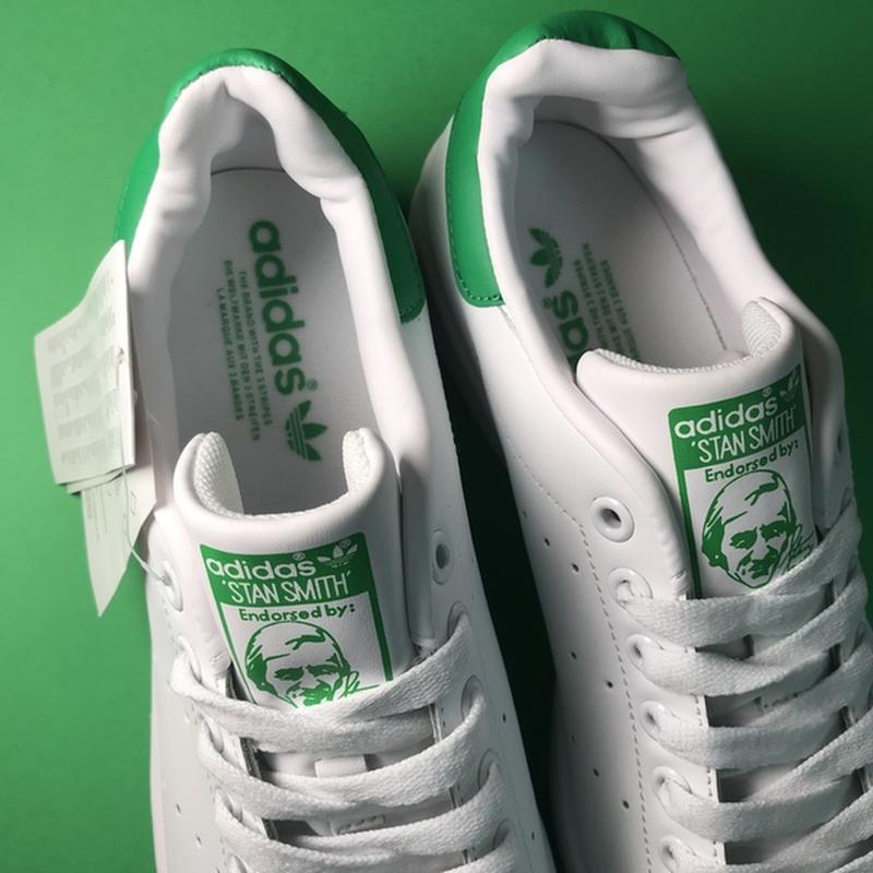 Свежак! женские кожаные кроссовки adidas stan smith white green. - Фото 5