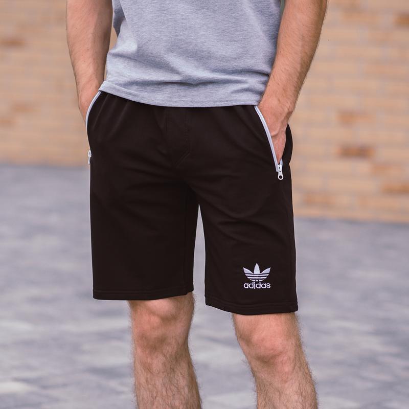 Стильные черные мужские шорты высокого качества