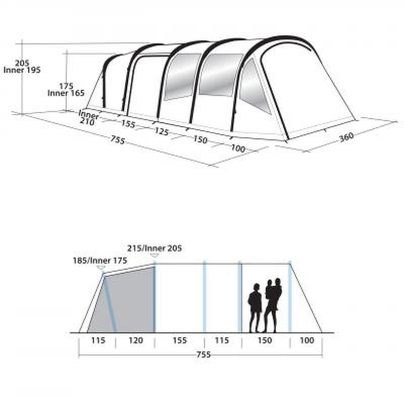 Палатка для больших кампаний!!! Кемпинговые большие палатки!! ТОП - Фото 10
