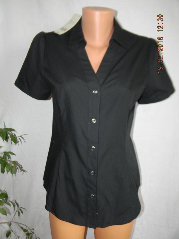 Новая черная блуза - рубашка