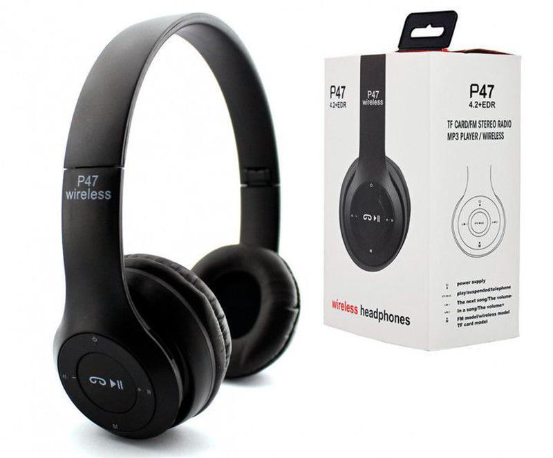 Беспроводные наушники Wireless P47 Bluetooth складные + радио ...