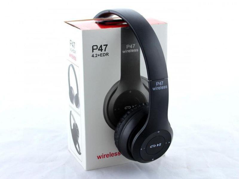 Беспроводные наушники Wireless P47 Bluetooth складные + радио ... - Фото 3