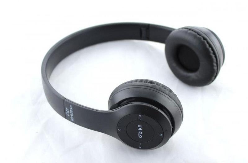 Беспроводные наушники Wireless P47 Bluetooth складные + радио ... - Фото 5