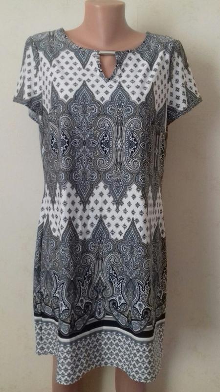 Распродажа!!!красивое платье с принтом