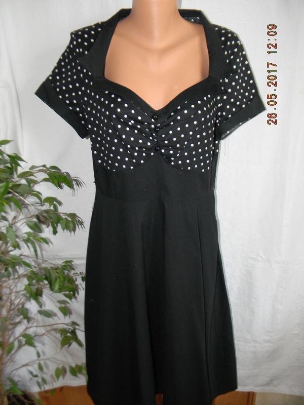 Элегантное платье в горошек chicstar