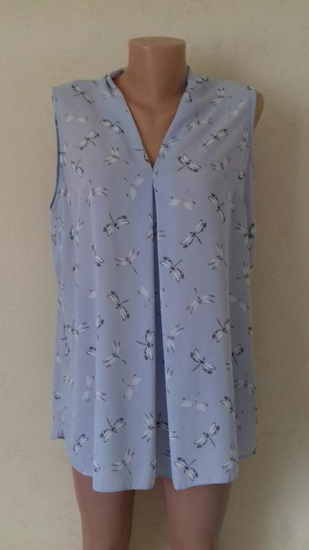 Новая нежная блуза с принтом